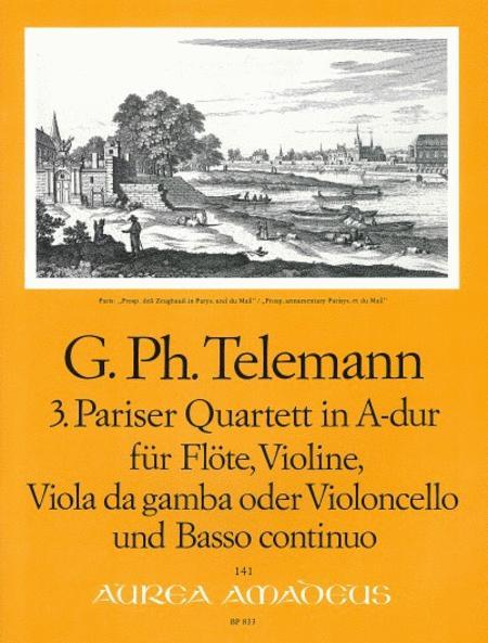 3rd Paris Quartet A major TWV 43:A1