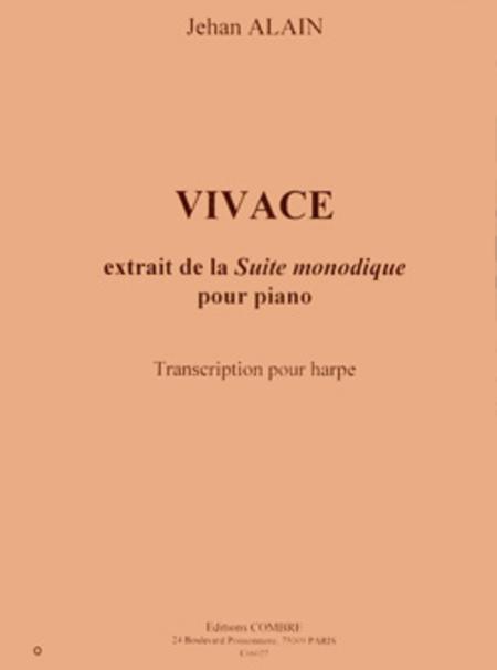 Vivace extr. de Suite monodique - transcription pour harpe