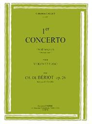 Concerto No. 1 en Re maj. Op. 26: solo no. 1