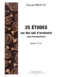 Etudes sur des soli d'orchestre avec transposition (25)