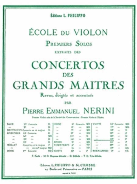 Concerto No. 23: solo no. 1