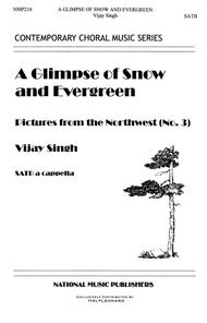 A Glimpse Of Snow And Evergreen