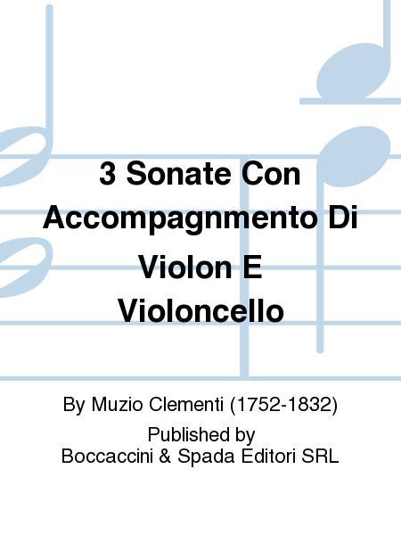 3 Sonate con Accompagnmento di Violon e Violoncello
