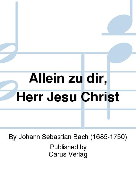 Lord Jesus Christ, in thee alone (Allein zu dir, Herr Jesu Christ)