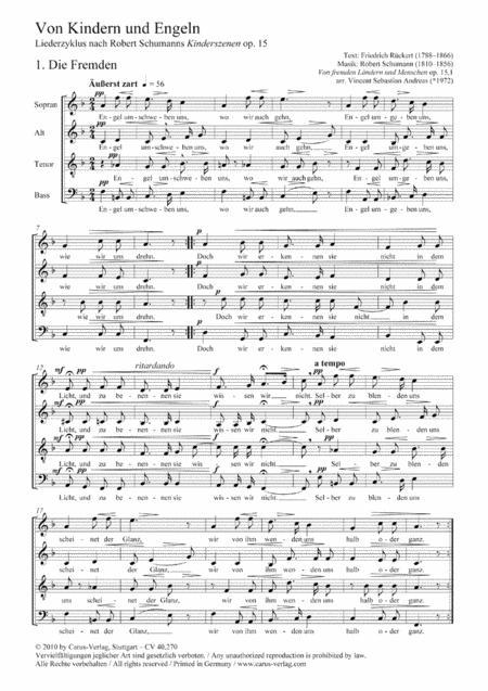 Von Kindern und Engeln. Liederzyklus nach Kinderszenen op. 15