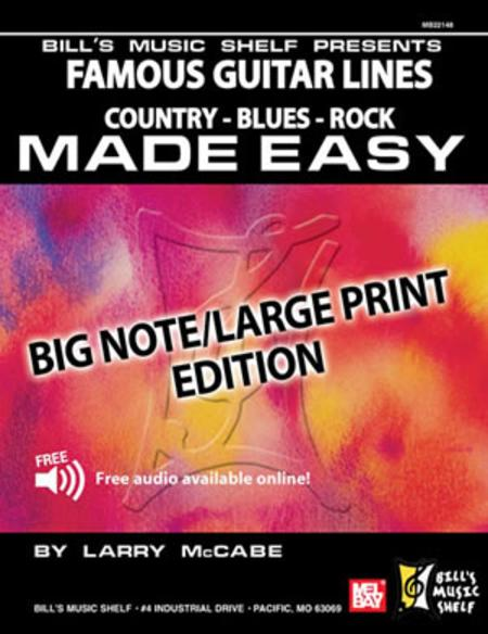 Famous Guitar Lines Made Easy - Big Note/Large Print Edition
