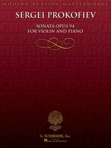 Sonata for Violin, No. 2, Op 94
