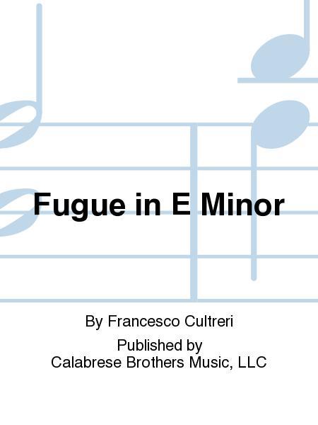 Fugue in E Minor