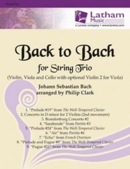 Back to Bach for String Trio