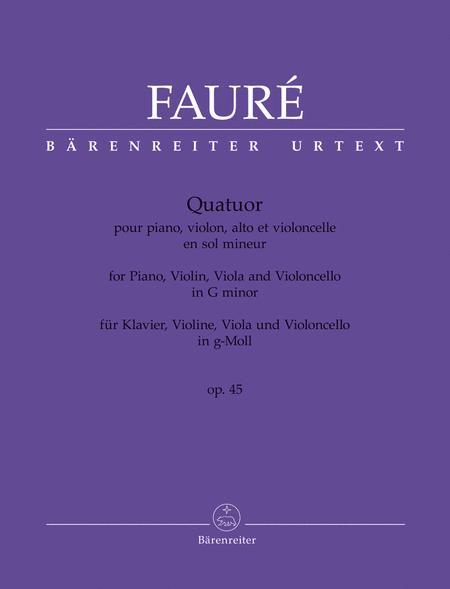 Quatuor g minor op. 45