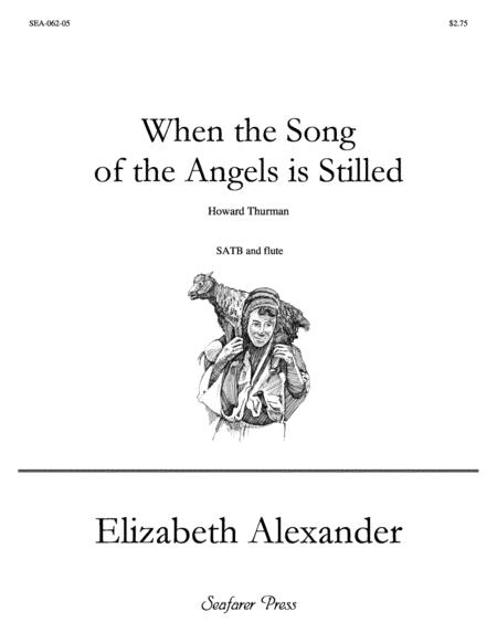 When the Song of the Angels Is Stilled (SATB, flute)