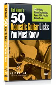 50 Acoustic Licks You Must Know! (DVD)