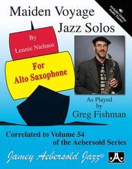 Vol. 54 Maiden Voyage Alto Sax Solos