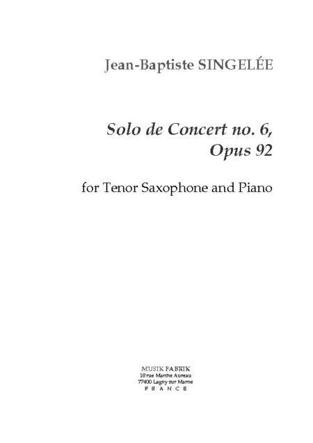 Solo de Concert no. 6, Opus 92