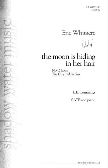 the moon is hiding in her hair