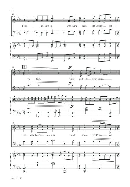Fall On Your Knees By Pepper Choplin - Octavo Sheet Music For SAB Choir And Piano (Buy Print ...