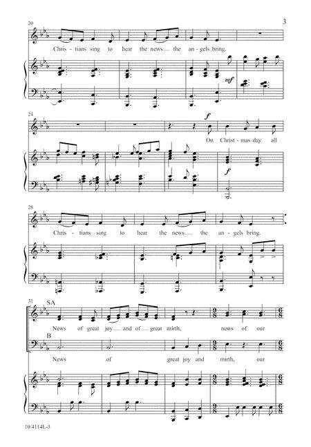 Christmas Day In The Morning By Larry Shackley - Octavo Sheet Music For SAB Choir And Piano (Buy ...