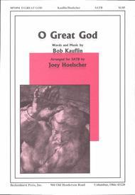 O Great God (SATB)