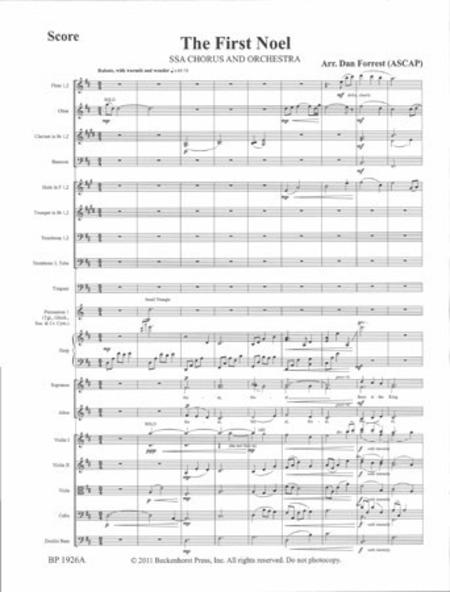 The First Noel (SSA Orchestra)