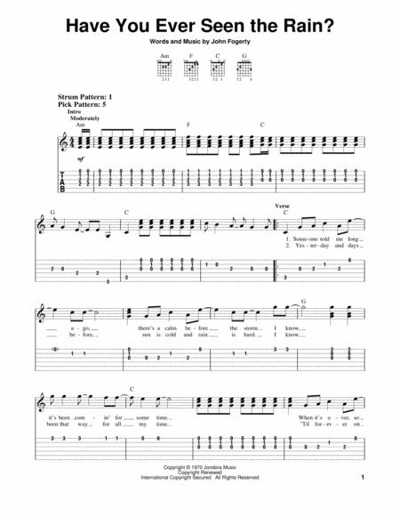 Download Have You Ever Seen The Rain? Sheet Music By John Fogerty ...