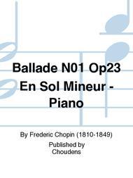 Ballade N01 Op23 En Sol Mineur - Piano