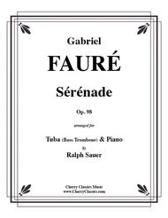 Serenade, Op. 98 for Tuba or Bass Trombone & Piano