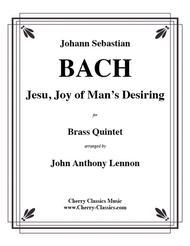 Jesu Joy of Man's Desiring for Brass Quintet