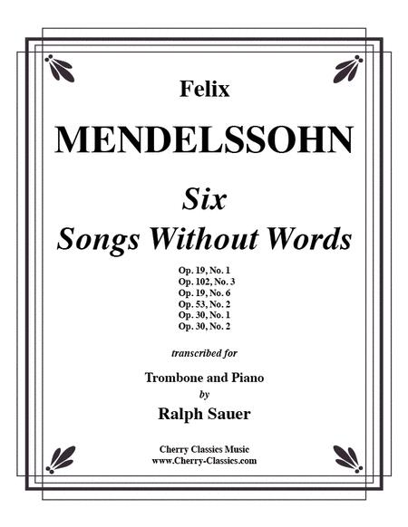 Six Songs Without Words for Trombone & Piano