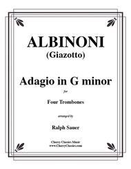 Adagio in G minor for Four Trombones