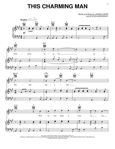Download This Charming Man Sheet Music By The Smiths - Sheet Music Plus