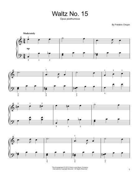 Waltz No. 15, Op. Posthumous, E Major