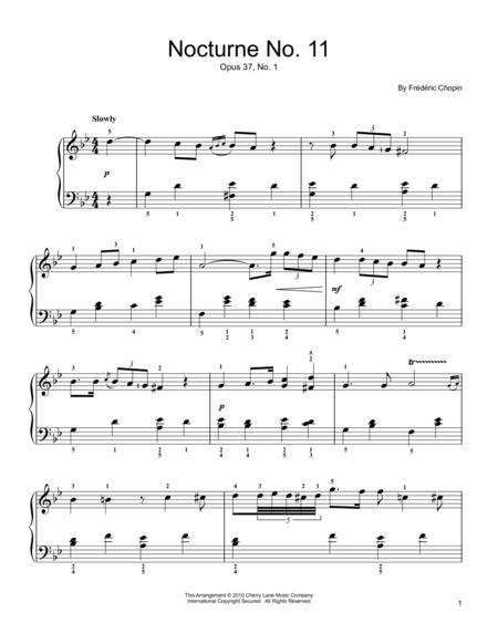 Nocturne No. 11, Op. 37, No. 1, G Minor