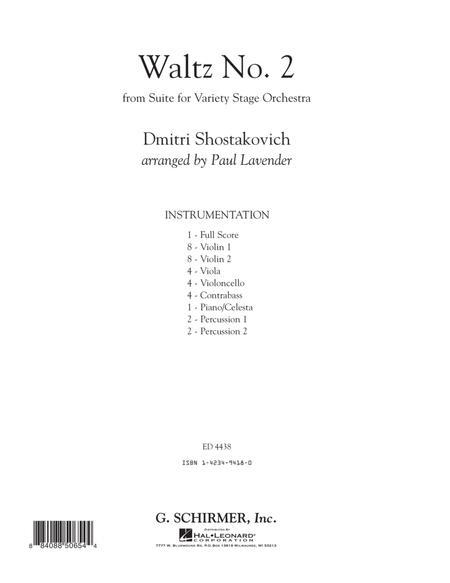 Waltz No. 2 - Conductor Score (Full Score)