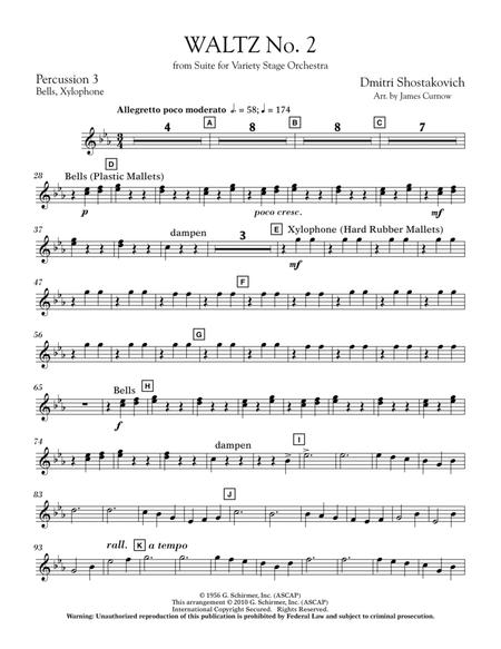 Waltz No. 2 (from Suite For Variety Stage Orchestra) - Percussion 3
