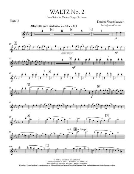 Waltz No. 2 (from Suite For Variety Stage Orchestra) - Flute 2