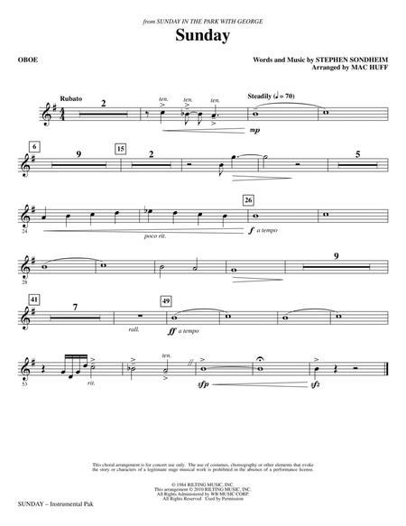 Sunday - Oboe