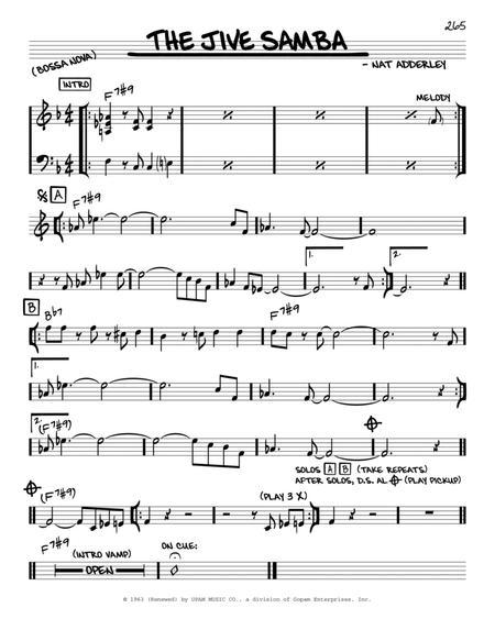 The Jive Samba - C Solo Sheet