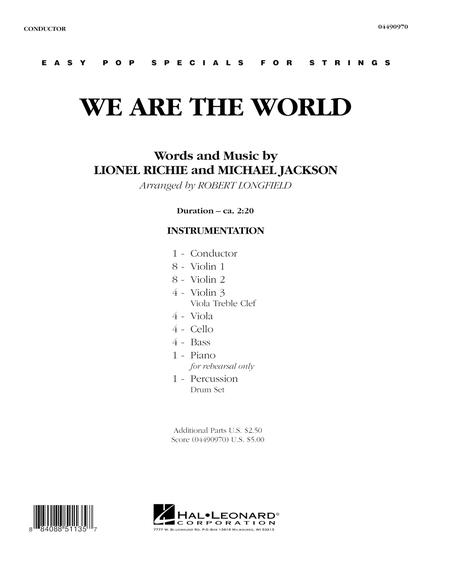 We Are The World - Full Score