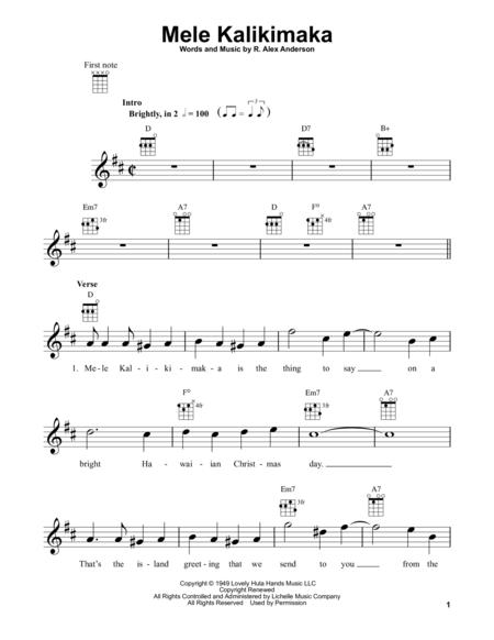 Download Mele Kalikimaka Sheet Music By Bing Crosby Sheet Music Plus
