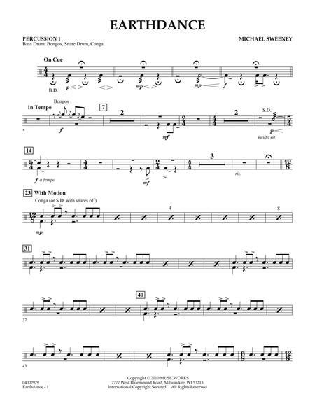 Earthdance - Percussion 1