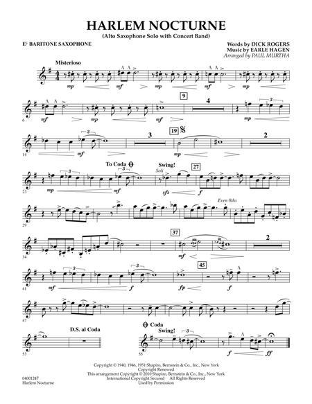 Harlem Nocturne (Alto Sax Solo with Band) - Eb Baritone Saxophone
