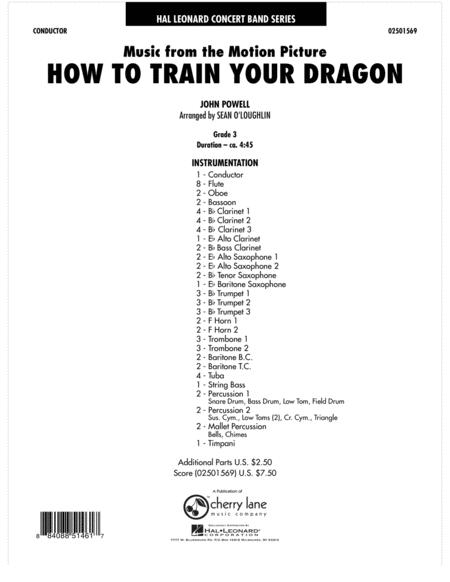 Music from How To Train Your Dragon - Full Score