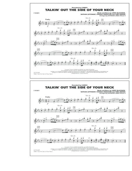 Talkin' Out The Side Of Your Neck - F Horn