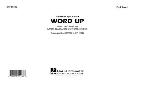Word Up - Full Score