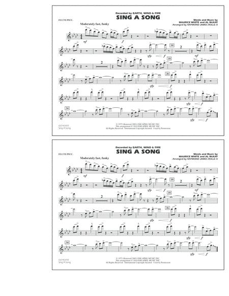 Sing A Song - Flute/Piccolo