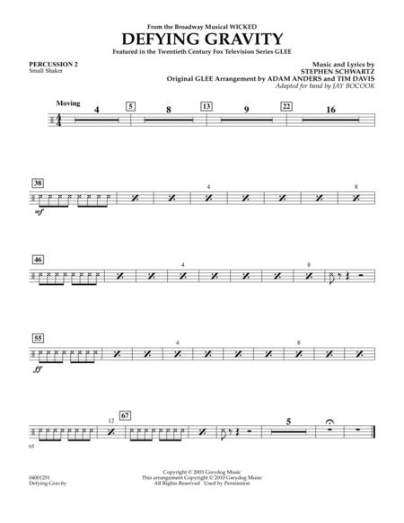 Defying Gravity (from Wicked) - Percussion 2