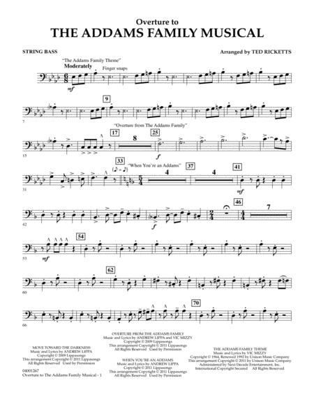 Overture to The Addams Family Musical - String Bass