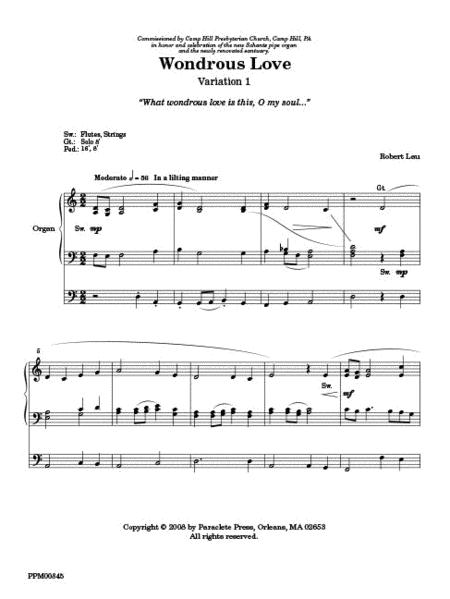Variations On Wondrous Love