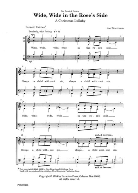Christmas Lullaby.Preview Wide Wide In The Rose S Side A Christmas Lullaby