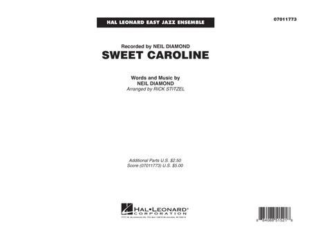 Sweet Caroline - Conductor Score (Full Score)